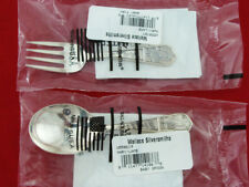 WALLACE STERLING SILVER BABY SPOON & FORK WITH NURSERY RHYME NEW IN THE WRAPPER