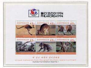 40360) AUSTRALIA 1994 MNH** Philakorea s/s