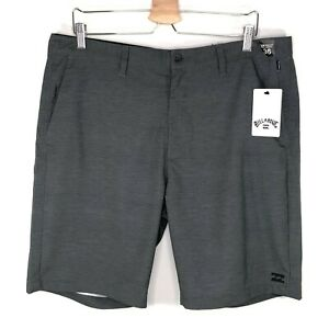 Billabong Daily Hybrid Submersibles Board Shorts Boardshorts Black Gray Men's 36
