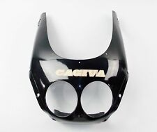 "OEM CAGIVA 1991 MITO FRONT FAIRING BLACK+ STICKER ""CAGIVA"" 80B066309 | 8B0075520"