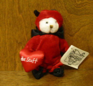 """Ganz Wee Bear Village #HV3372 HOT STUFF, 5"""" removeable clothes From Retail Store"""