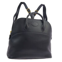 HERMES BOLIDE ADO PM Backpack Hand Bag □A 27 2 Purse Black Ever calf Auth G03866