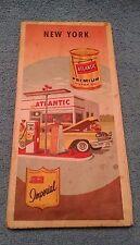 Atlantic Gas Road MAP  New York NY  Imperial Premium Motor Oil 1959  Old Vtg