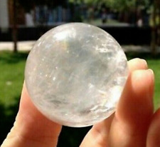 Beautiful White Quartz Crystal Sphere Ball Healing Gemstone 38-40MM + Stand