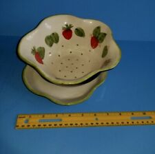 New listing Floral Berry �Colander Strainer & Drip Plate Welcome Home Brands New ��
