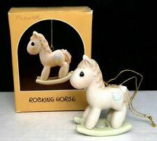 """Precious Moments """"Rocking Horse"""" Ornament 1987"""