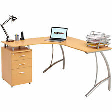 Large Corner Computer Desk A4 Filing Drawer for Home Office Piranha Regal PC 28b