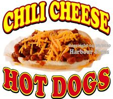 Chili Cheese Hot Dogs Decal (Choose Your Size) Food Truck Concession Sticker