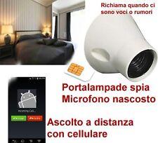 microfono ambientale spia in portalampade - GSM cimice microspia Stanza camera