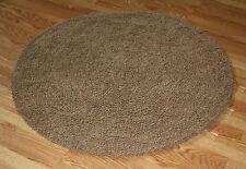 NEW PLUSH Brown Super Soft Cotton Ultimate Shag area Rug 4' Round