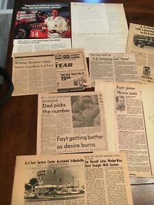 A J Foyt to be GoodYear racing distributor?? 9 articles and letter original 60s
