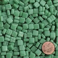 8mm Mosaic Glass Tiles - 2 Ounces About 87 Tiles - Light Blue Green