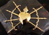Cuore sette Spade dorato per Addolorata o ex voto ; Our Lady of Sorrow Heart.