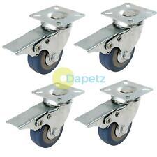 Heavy Duty Swivel Rubber Castor Caster Wheels Cart Wheel 50mm 4 PC