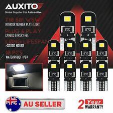 10x AUXITO T10 LED Interior Wedge Number Plate Light Globe White Bulb 12V Canbus