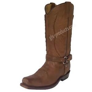 Original Rancho Biker Boot 1562 Western Boots handmade genuine leather decorated