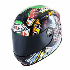 CASCO MOTO INTEGRALE  SR SPORT GAMBLE TOP PLAYER SUOMY KSSR0021 IN FIBRA carbon