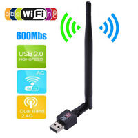 Wireless USB WiFi Adapter Dongle Network LAN Card 802.11b/g/n W/ Antenna USA