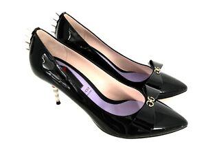 Gucci Ladies Luxury Shoes Logo Pumps Black Gg High Heels Black Eu 40,5 New