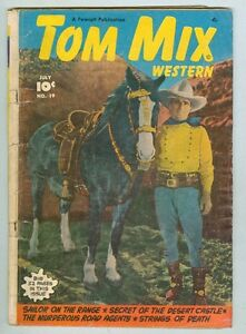 Tom Mix #19 July 1949 G/VG Photo cover