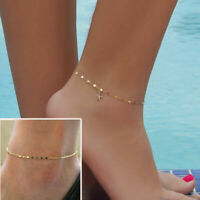Fashion Gold Silver Ankle Bracelet Women Anklet Chain Foot Beach Jewelry