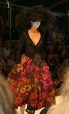 Ivan Grundahl romantic avant garde full length skirt size 38, runway and rear