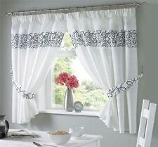 Rideaux et cantonnières blanc avec des motifs Brodé en polyester pour la maison