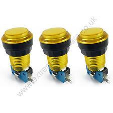 3 X 28mm Bombilla LED 5v Redondo T10 Botones De Arcade & microinterruptores (amarillo) - Mame