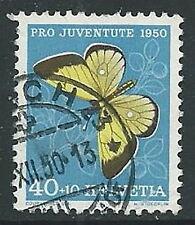 1950 SVIZZERA USATO PRO JUVENTUTE 40 CENT - G038