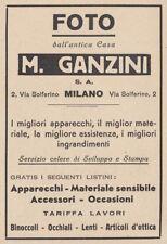 Z3892 Foto dall'antica casa M. GANZINI - Pubblicità d'epoca - 1932 advertising