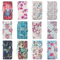 3D Effect Flip Wallet Case Leather Stand Cover For Apple iPhone 6 6S 7 8 Plus UK