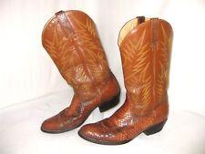 Tony Leather Bangkok Authentic Snake Skin Leather Western Boots Men Marked Sz 10