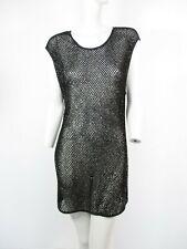 60a0d4bff STUNNING WOMENS ALL SAINTS ALL SAINTS HAND EMBELLISHED CILIA TEE DRESS  BLACK 12