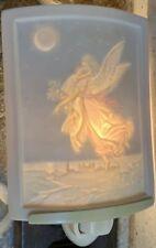 Night Light Angel with Child Lithophane Porcelain Garden Delamere curved