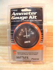 """NEW!! Suntune 2-5/8"""" Black or Chrome Bezel Ammeter Gauge Kit CP8060"""