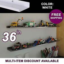 "3'/36"" ultraLEDGE White LEGO Display / Shelf / Ledge"