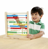 Melissa & Doug Kids Classic Toy Solid 100 Wooden Beads Wooden Abacus