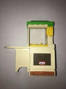Vtg Little Tykes Mini Kitchen Stove Sink Combo Dollhouse Size Green Top
