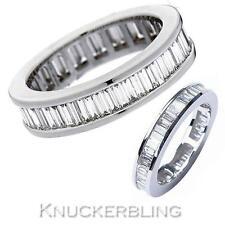 Diamond Full Eternity Wedding Ring 2.00ct Baguette Cut F VS1 in 18ct White Gold