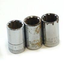 """Lote De 3PC Craftsman, Kd , Proto 1/2"""" Dr 12-Point 16mm Métrico Enchufe Como Es"""