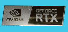 Nvidia GeForce RTX Silver Chrome Sticker 12 x 35mm Same Design As Nvidia OEM
