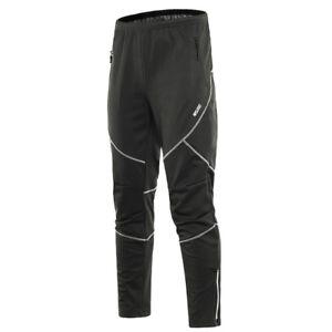 Men's Winter Warm Thermal Pants Sports Trousers Running Cycling Pants Waterproof
