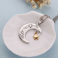 """Stylish """"I Love You To The Moon and Back"""" Fashion Moon and Star Pendant Necklace"""