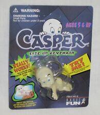 Casper The Ghost Lite Up Glow-In-The-Dark Keychain Nos Basic Fun 1995 Toy