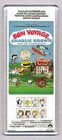 BON VOYAGE, CHARLIE BROWN movie poster 'WIDE' FRIDGE MAGNET - PEANUTS COOL!