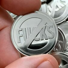 """""""No F*cks"""" Coins (10-Pack) - 10 Silver Color No F*cks Given Collectible Coins"""