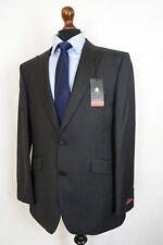 Men's Pierre Cardin Charcoal Grey Regular Fit Suit 44L W40 L33 VB84