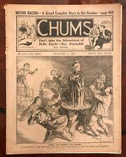 Chums Vintage Antique Magazine February 1914 Royal Navy pic inside.