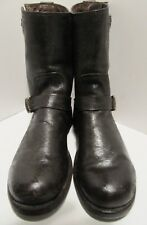 Frye Engineer Double Buckle Boots 10.5D distressed krinkle brown Made In Mexico