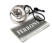 Sterling Silver Ring Ferroni Designer Swirl Ring Size 8 Brand New